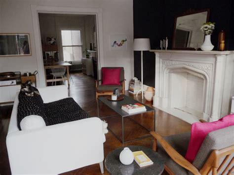 black painted living room the living room has a black wall door sixteen