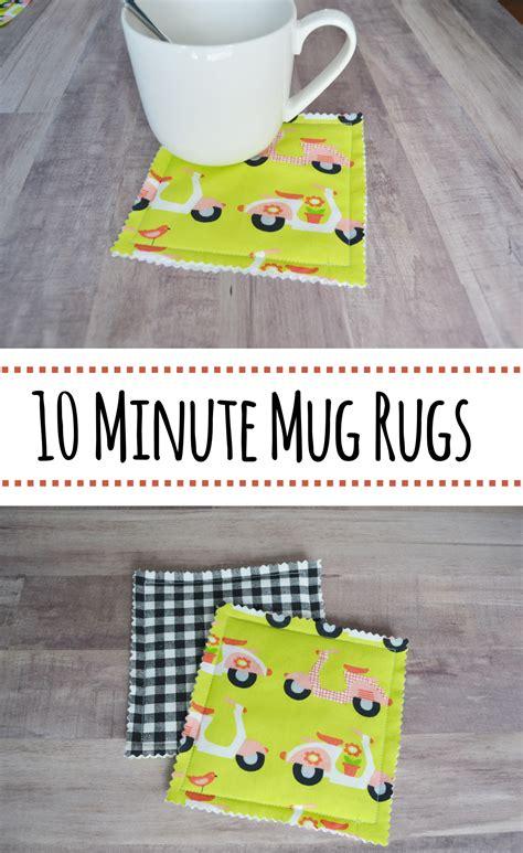 10 Minute Mug Rug - 10 minute mug rugs coasters martha