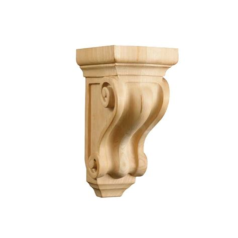 Small Wood Corbels Brown Wood Small Corinthian Corbel Unfinished Maple