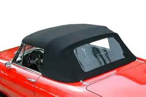 convertible tops for alfa romeo spider 105 and 115 series