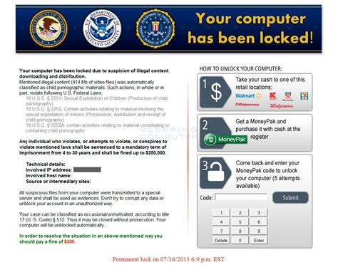Are You To Your Computer by Your Computer Has Been Locked Ransomware Removal Guide