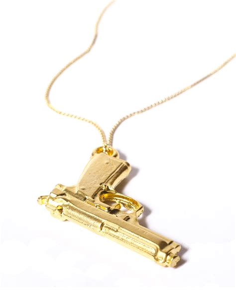 gun necklace automatic vdb