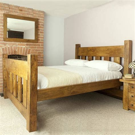 Chunky Wooden Bed Frames 1000 Ideas About King Bed Frame On King Size Bed Rustic Bed And Diy