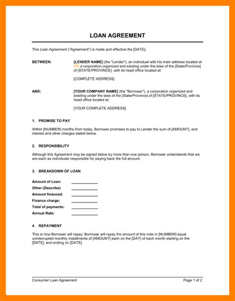 template agreement between two 5 format of loan agreement between two joblettered