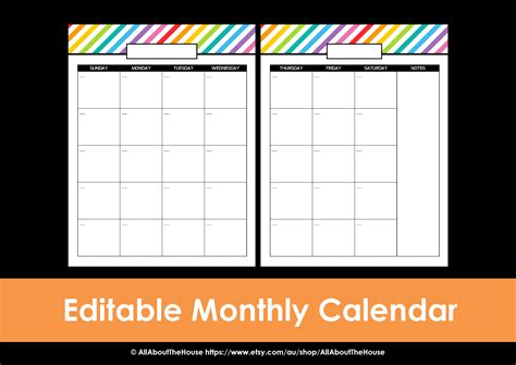 editable daily calendar planner for word autos post