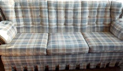 red plaid sofa broyhill vintage mad plaid 7 sofa sleeper hillman house white