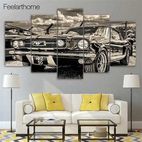 ford home decor hd printed 1965 ford mustang painting children s room