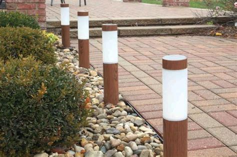 Solar Path Light With Wood Grained Finish Wooden Solar Lights