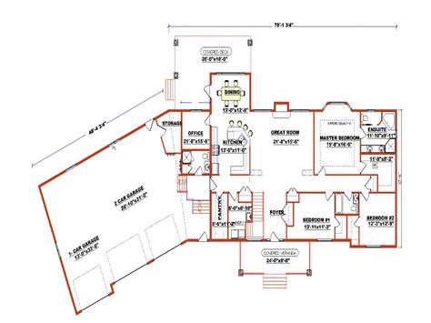 Ranch Bungalow Floor Plans by Ranch Style Floor Plans With Angled Garage Ranch Style