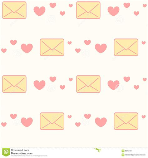 pattern of writing love letter love letter and hearts seamless pattern background cartoon