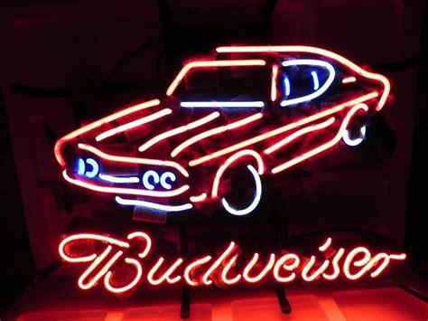budweiser car neon light sign 16 quot x 14 quot neon