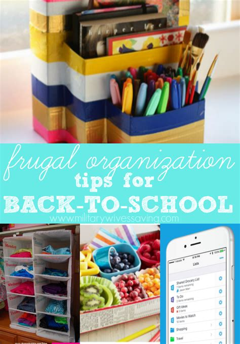 organization tips for school frugal organization tips for back to school time