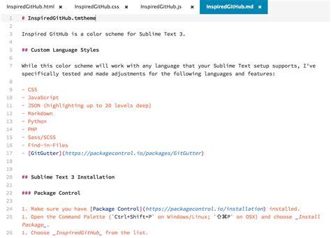 github markdown tutorial inspiredgithub tmtheme sublime text 3的配色方案 下载