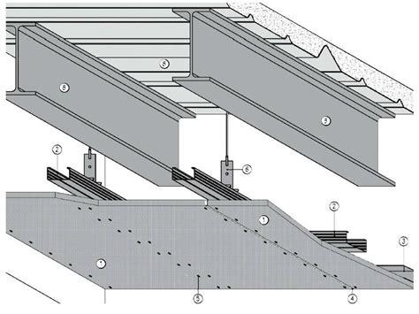 controsoffitto sezione controsoffitto tagliafuoco per solai in lamiera grecata