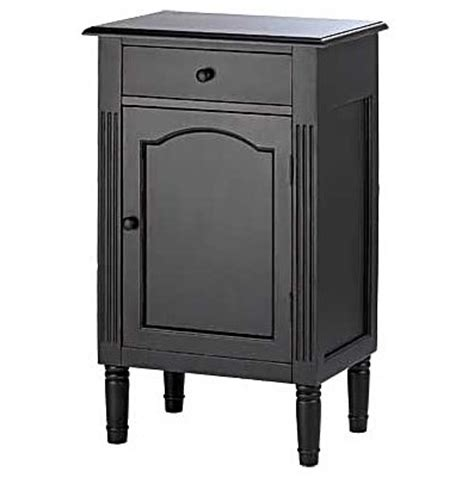 Small Black Cabinet With Doors Black Wood Cabinet