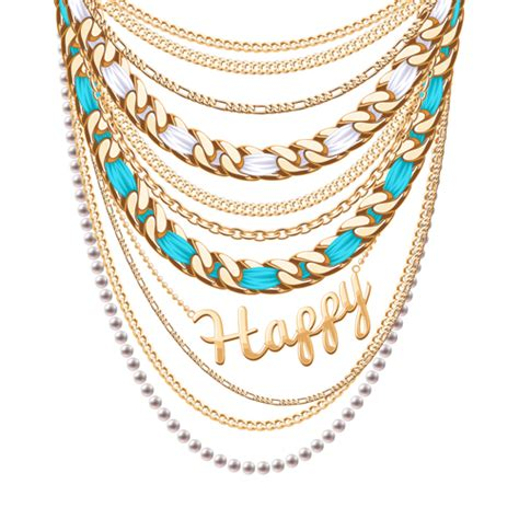 vector pattern jewelery jewelry necklace design vector 02 vector other free download