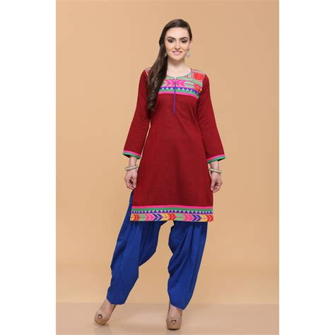 Silky Maroon by Kurtis Tops Maroon Silky Cotton Slub Kurti In Uk