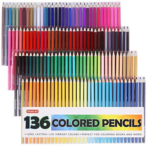 colored pencils and coloring books shuttle 136 colored pencils soft color pencil