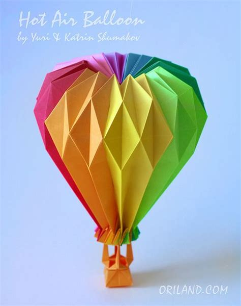 Origami Air Balloon - 25 best ideas about origami balloon on