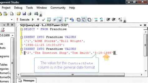 insert data into table sql enter data into a new database table sql training by