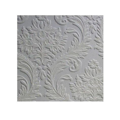 Dritz Home Decorative Nailhead Trim by 100 Embossed Paintable Wallpaper Anaglypta White