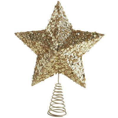 gold star tree topper holiday decor pinterest