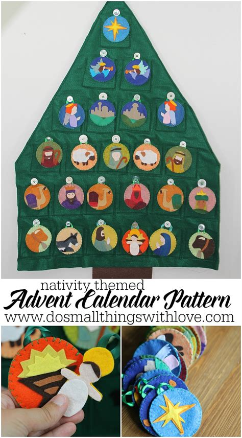 pattern for felt nativity advent calendar nativity themed felt advent calendar pattern do small