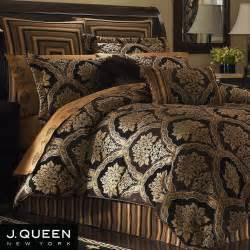 black and gold comforter hanover damask comforter bedding by j new york
