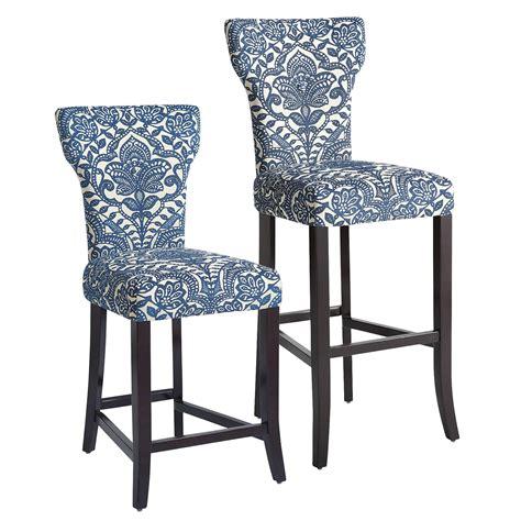 blue bar stools kitchen furniture carmilla blue damask counter bar stool pier 1 imports
