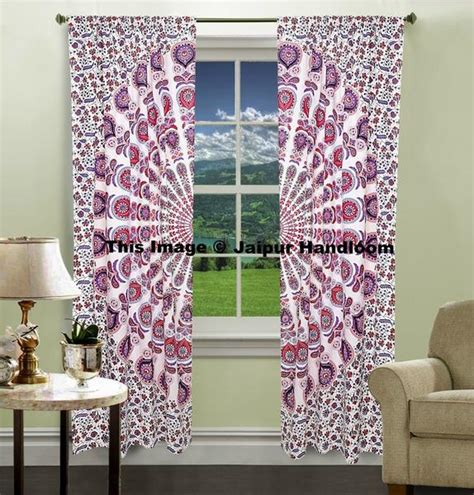 door tapestry curtains indian curtain peacock mandala tapestry door valance