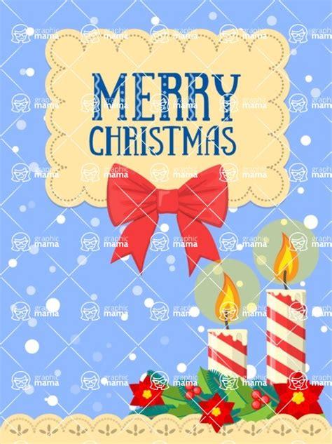 christmas card vector graphics maker design bundle merry christmas card  candles graphicmama