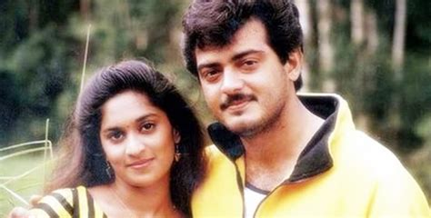 actor ajith mit actor ajith kumar and shalini 5 rare pictures of shalini