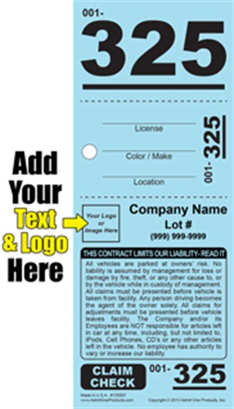 valet ticket template 3 part valet parking tickets