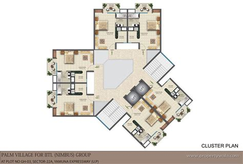 cluster home floor plans iitl nimbus palm village sector 22d greater noida
