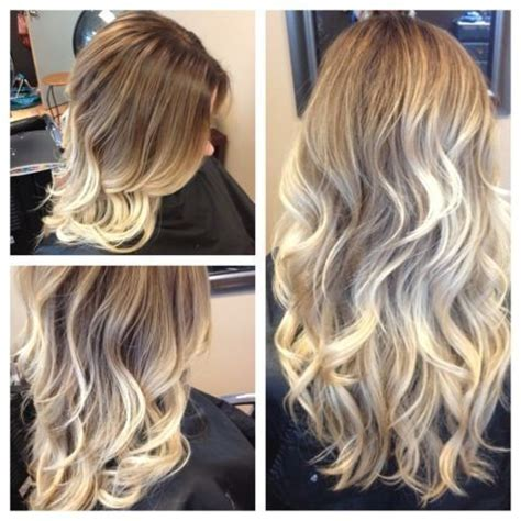 before and after ombre balayage on dark brown color treated hair light brown to blonde balayage ombre before and after my