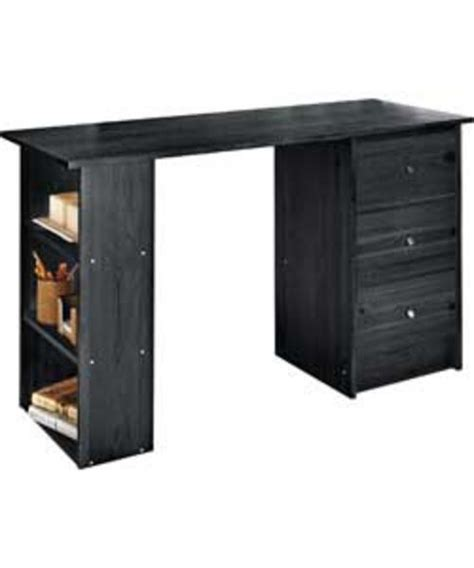 Buy Office Desk Uk Malibu Black 3 Drawer Home Office Computer Desk Table Workstation Desks Cybercheckout Co