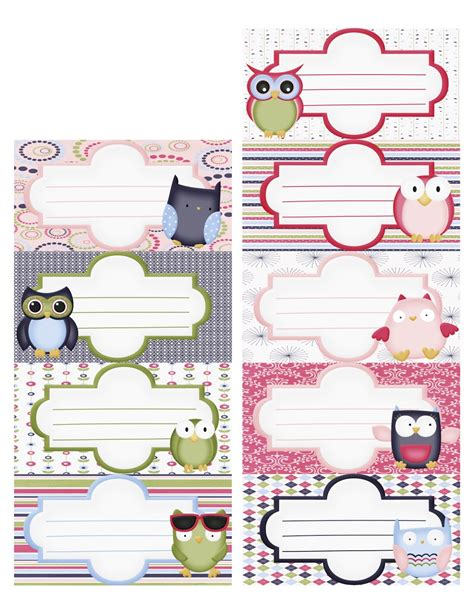 printable owl labels avery free printable address labels images frompo 1