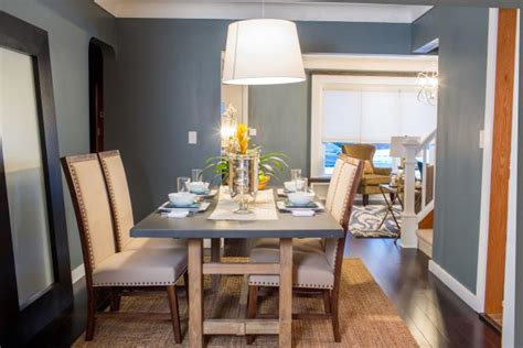 blue dining room  rustic dining table hgtv
