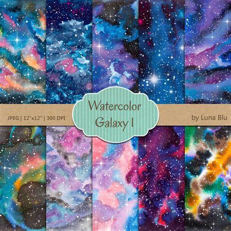 galaxy digital galaxy digital paper watercolor galaxy
