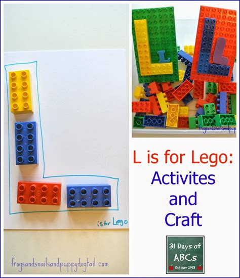 Gift Ideas Start Letter L The Letter L Is For Lego Craft And Activities Fspdt