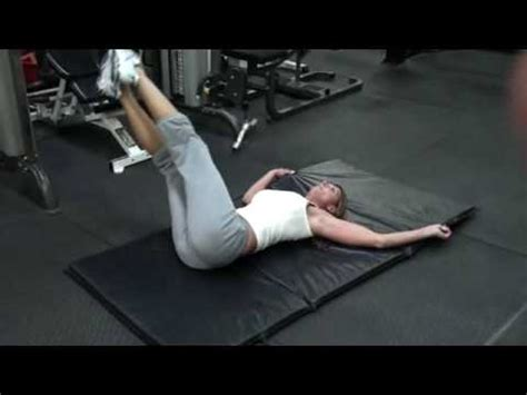 abdominal exercises reverse trunk twist youtube