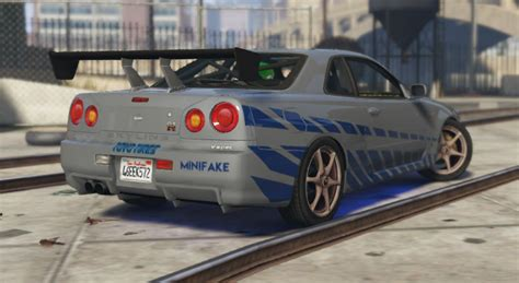 nissan skyline fast and furious paul walker nissan skyline r34 paul walker fast and furious paintjob