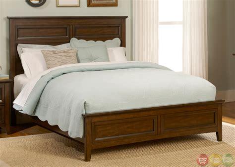 laurel creek traditional cinnamon finish panel bedroom set