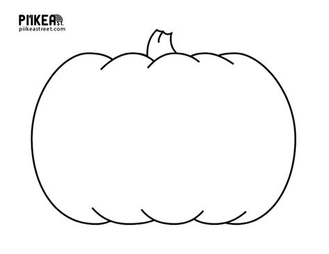 pumpkin outline coloring pages pumpkin coloring template festival collections