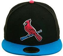 St 2tone fitted hats black lights and cardinals on