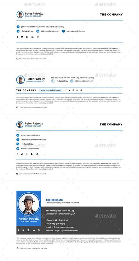 email template photoshop 15 awesome email signature psd templates web graphic