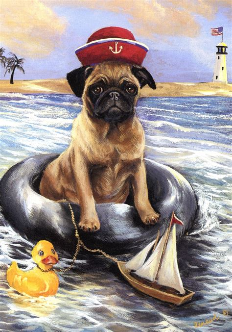 pug note cards pug ahoy note cards