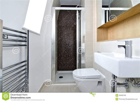 contemporary 3 piece en suite bathroom royalty free stock