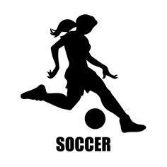 my hackberry house bedroom on Pinterest | Girls Soccer ... Girl Soccer Silhouette Clip Art