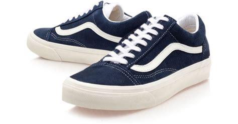 Harga Vans Navy Blue vans navy skool trainers in blue for lyst